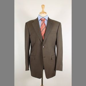 Canali 40R Green/Tan Wool Sport Coat 95-1